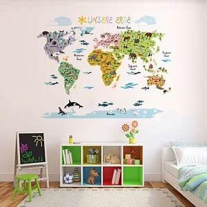Sticker Für Die Wand Kinderzimmer : wandsticker weltkarte perfekt f r das kinderzimmer ~ Michelbontemps.com Haus und Dekorationen