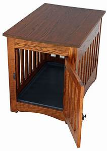mission dog crate end table ohio hardwood furniture With mission style dog crate