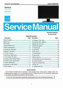 Dell E1909wdd Lcd Monitor Service Manual Download