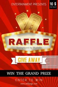 Red Raffle Poster Template | PosterMyWall