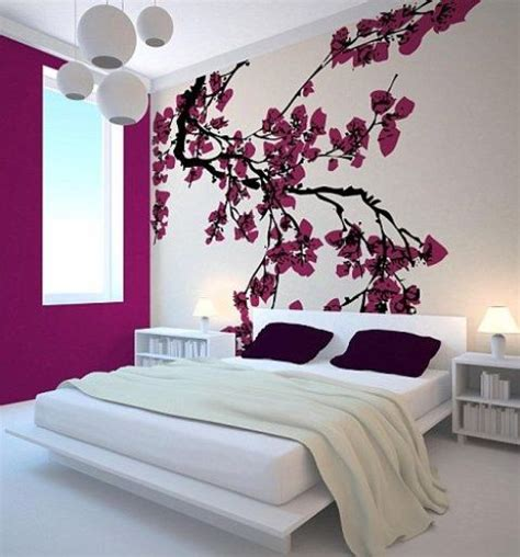 Painting wall art ideas easy d.i.y flowers. 30 Delicate Cherry Blossom Décor Ideas For Spring - Interior Decorating and Home Design Ideas