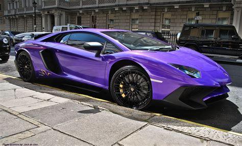 lamborghini aventador sv  london streets turn purple