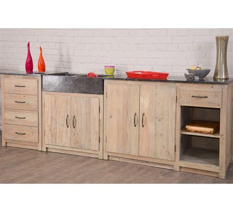 meuble cuisine pin cuisine en pin et marbre 3 élèments et 2 bacs à évier