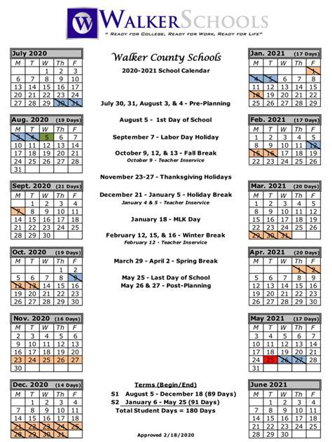 georgia state school calendar  printable calendar