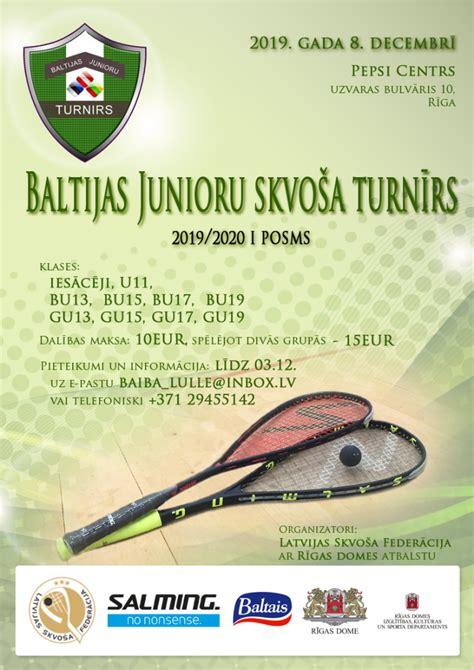 Baltijas junioru skvoša turnīrs pulcēs rekordlielu ...
