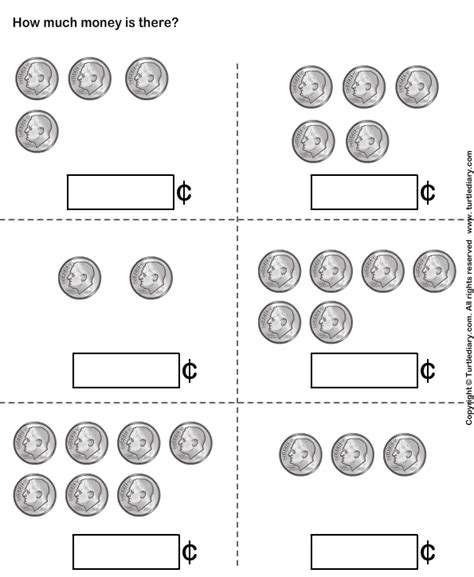 counting dimes up to ten worksheet turtle diary