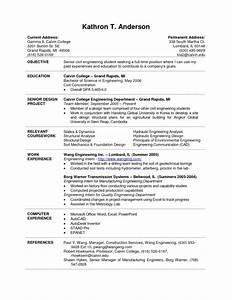 intern resume sample chemical engineering internship With engineering student resume template