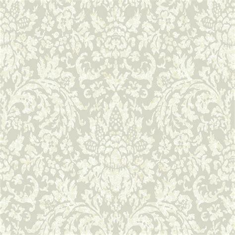 dark grey  cream mottled damask wallpaper