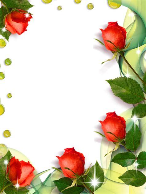 beautiful transparent photo frame  roses molduras