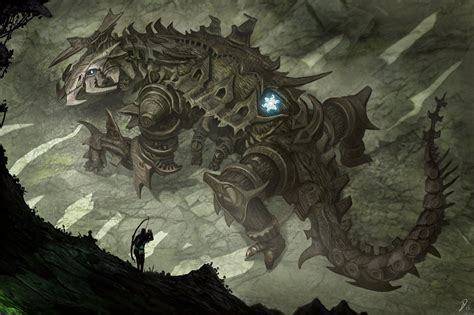 Colossus By Davesrightmind Robot Golem Monster Beast