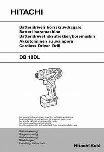 Hitachi Db 10 Dl Tools Download Manual For Free Now