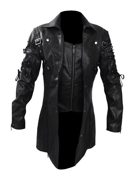 Latest Arrival Steampunk Men Gothic Trench Coat