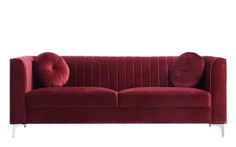 Sofa Rot Samt by 40 Velvet Sofas That Add A Bit Of Appeal To The House