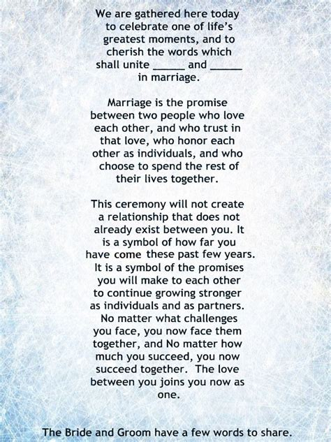 wedding officiant script non religious short and sweet wedding ceremony script