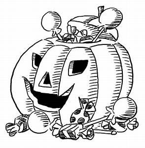 Citrouille D Halloween Dessin : coloriage citrouille d 39 halloween avec bonbons coloriages imprimer gratuits ~ Nature-et-papiers.com Idées de Décoration
