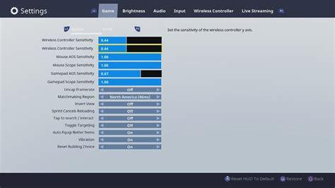 choose   fortnite settings fortnite nexus