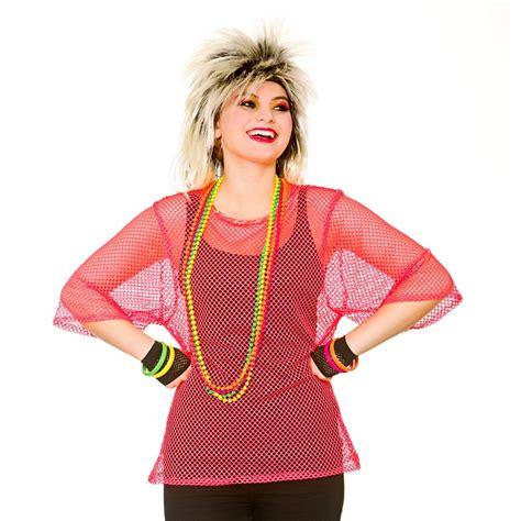 Ladies Womens 1980s 80s Eighties Neon Dance Hen Fancy Dress Outfit Accessory Lot | eBay