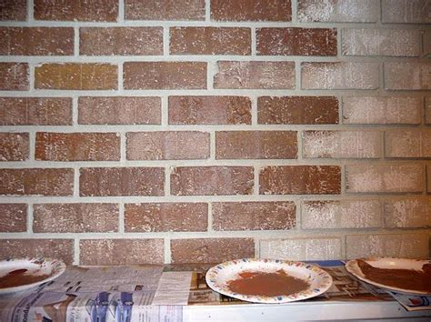 step  step guide  painting brick painted brick