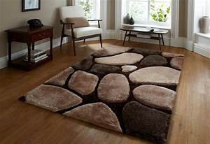 emejing tapis marron beige pictures awesome interior With tapis shaggy avec canape convertible 140x200