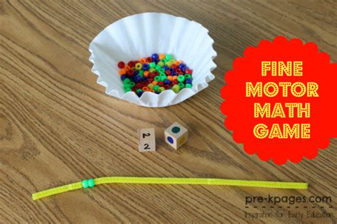 motor math 429 | pony beads pipe cleaner math game