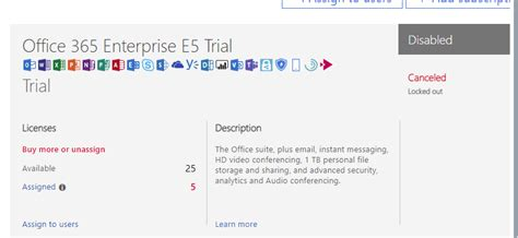 Office 365 Portal Trial by Office 365 Course 20347a Office 365 Enterprise E5 Trials