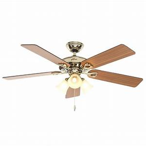Hunter Sontera 52 in Indoor Hill Bright Brass Ceiling Fan