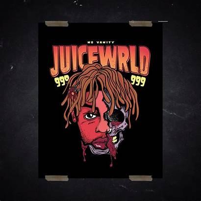 Wrld Juice 999 Poster Skull Wallpapers Juicewrld