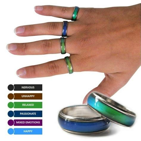 colors on a mood ring amazing mood ring emotion feeling color change adjustable