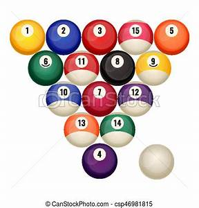 Pool Position : pool billiard balls in starting position vector ~ A.2002-acura-tl-radio.info Haus und Dekorationen