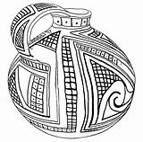 Coloring Pottery Greek Pages Printable Template Casas Templates sketch template