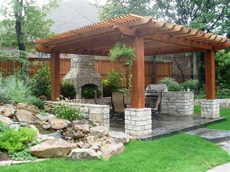 paver installation pergola patio water feature tulsa