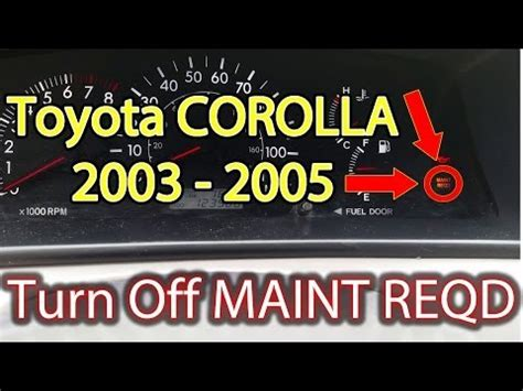 toyota corolla maintenance required light 2011 toyota corolla reset maintenance required light doovi