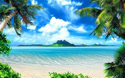Tropical Summer Landscape Holiday 4k Scenery Beach