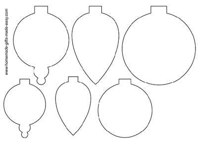 printable christmas ornament shapes templates ornaments and on
