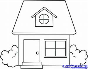 Simple House Drawing Draw Kids - Building Plans Online ...