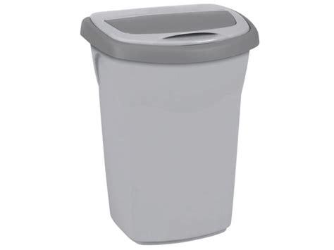 curver poubelle eureka 50l gris clair hubo