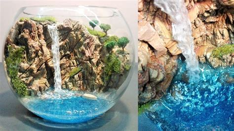 How To Make Aquascape by Diy Terrarium Aquascaping Diorama