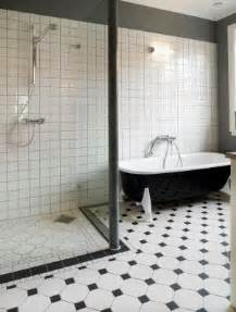black and white tiled bathroom ideas black and white bathrooms