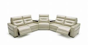 ivy modern grey leather sectional sofa w recliners and With sectional sofa w recliners
