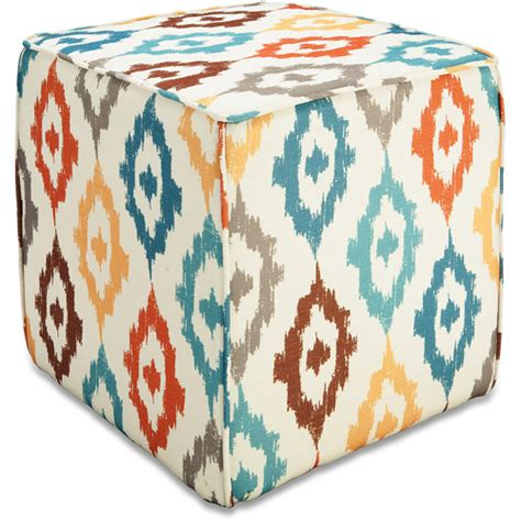 better homes and gardens ottoman cushions better homes and gardens pouf ottoman ikat diamonds