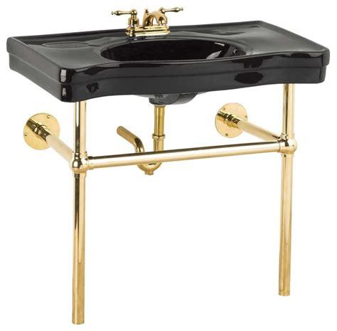 console sinks black belle epoque sink bistro brass legs