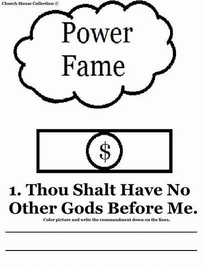 Commandments Coloring Gods Thou Before Shalt Commandment