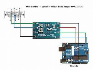 Serial Port Mini Rs232 To Ttl Converter Adaptor Module