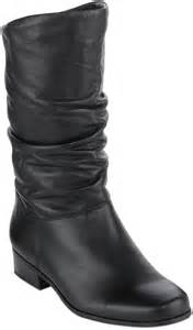 womens boots jcpenney jcpenney st 39 s bay st johns bay womens leather slouch boots in wide width