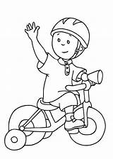 Coloring Caillou Pages Bike Bicycle Printable Drawing Cartoons Riding Cycling Safety Preschool Drawings Adult Getdrawings Toddlers Preschooler sketch template