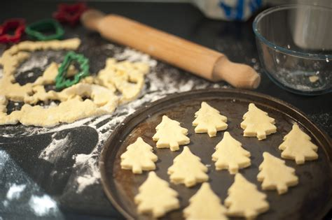 baking homemade christmas cookies  stock image