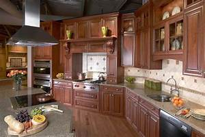 Elegant Cherry Gourmet Kitchen