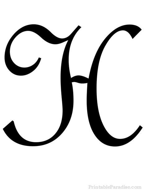 printable cursive letters  fancy cursive letters