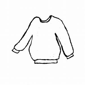Clip Art Black And White Sweater Clipart - Clipart Suggest