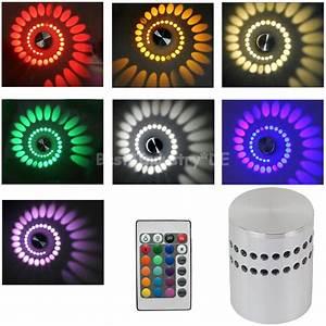 Led Deckenleuchte Rgb : 3w rgb led deckenleuchte spirale wandleuchte wandlampe deckenlampe fernbedienung ebay ~ Watch28wear.com Haus und Dekorationen